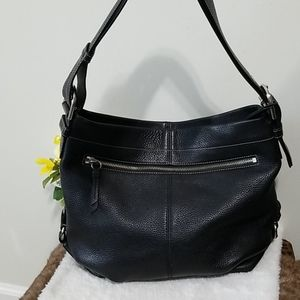 Coach Convertible leather hobo bag